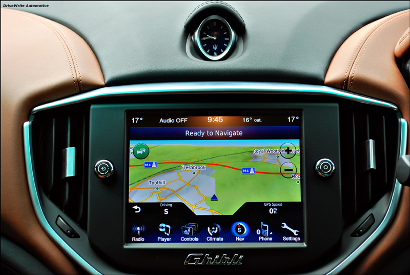 Maserati Ghibli touch screen