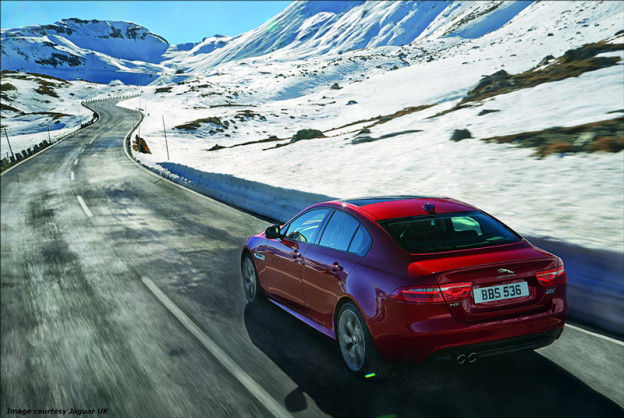 Jaguar XE, driving, DriveWrite Automotive
