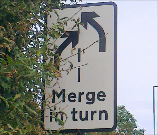 Merge in turn, Highway Code, merge, traffic, road safety, autos, lifestyle auto, driving, driving standards, DriveWrite Automotive, motoring blog, car blog